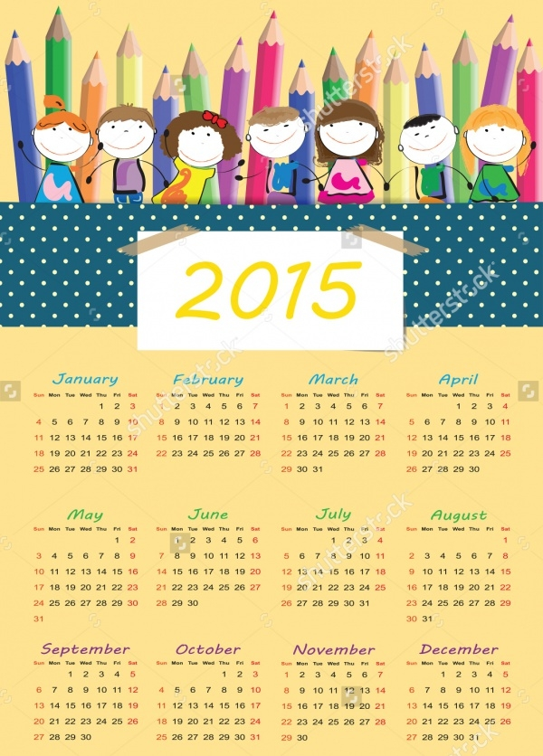 Happy Kids Calendar Design