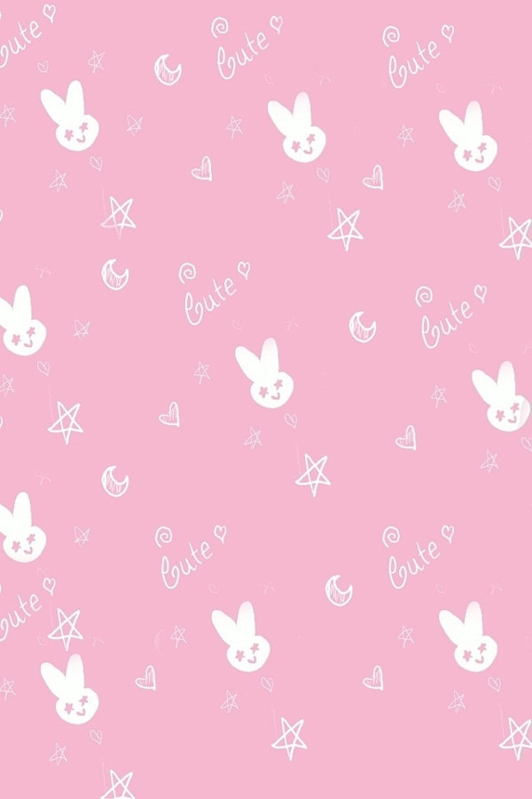 Hd Cute Pink Rabbit iPhone 4 Backgrounds