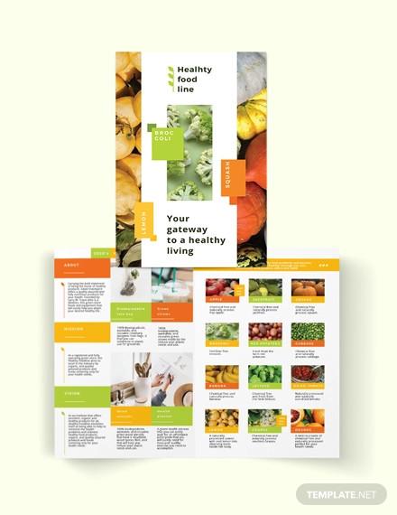 health nutrition bi fold brochure template