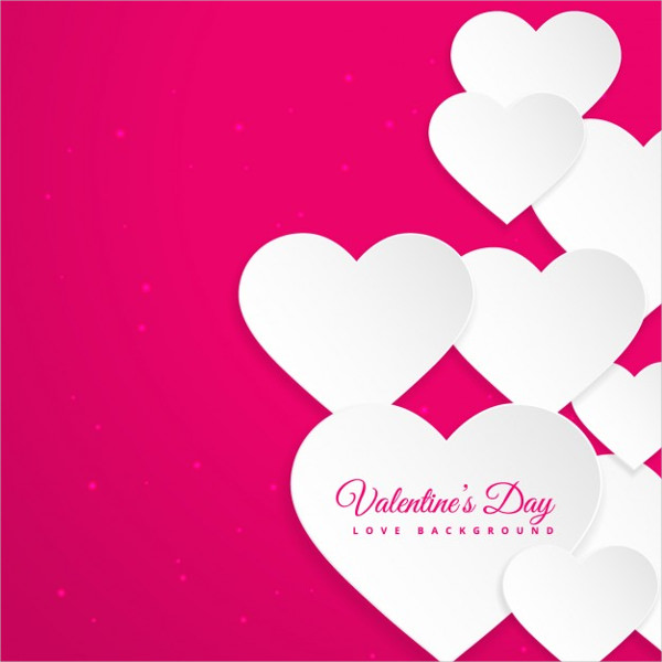 Hearts in Pink Valentines Day Card