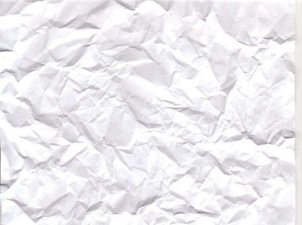 High Quality Crumpled White Paper Texture
