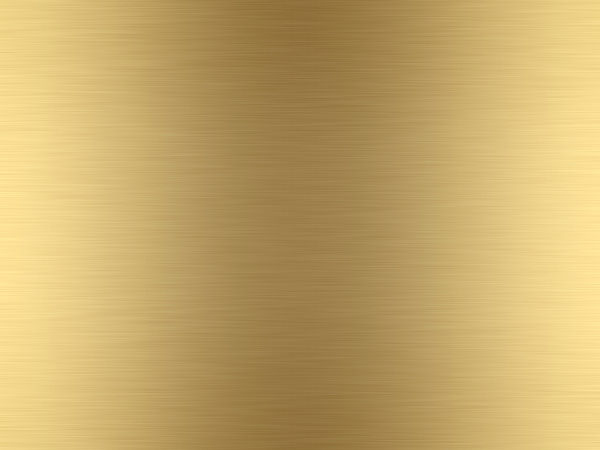 High Quality Rendered Lightly Brushed Gold Metal Background Texture