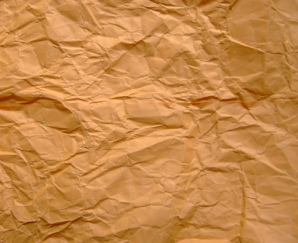 High Res Crumpled Brown Paper Texture
