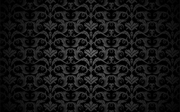High Res Free Vector Black Floral Vintage Background