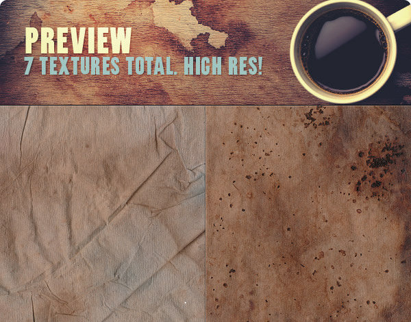 High Res Heavy Coffee Stains Free Photoshop Textures
