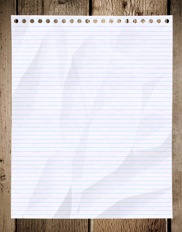 high res lined notebook paper texture with wooden background