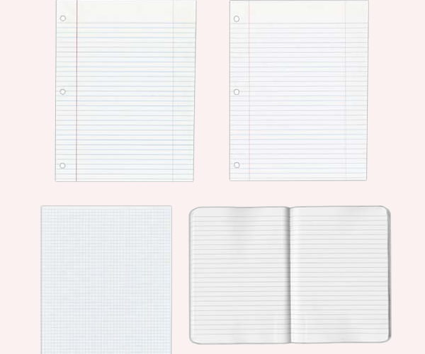 high res notebookand notepad paper texture