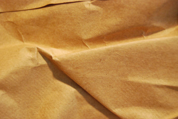 High Res Wrinkled Brown Paper Texture
