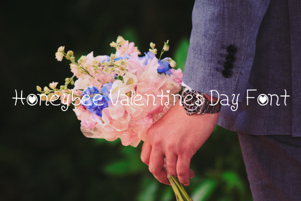Honeybee Valentines Day Font