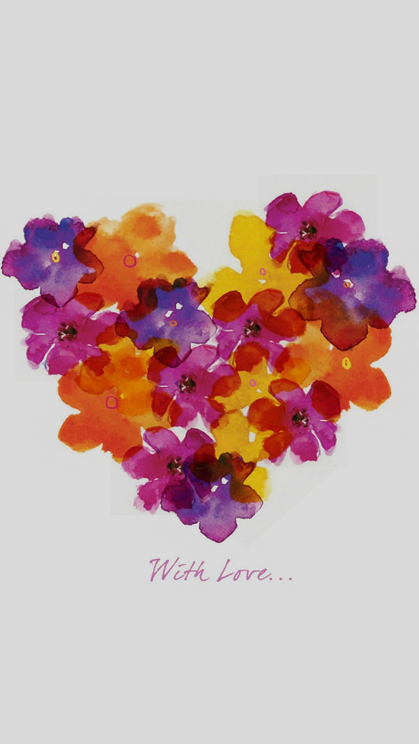 Illust Flower Love Drawn Art iPhone 5s Background