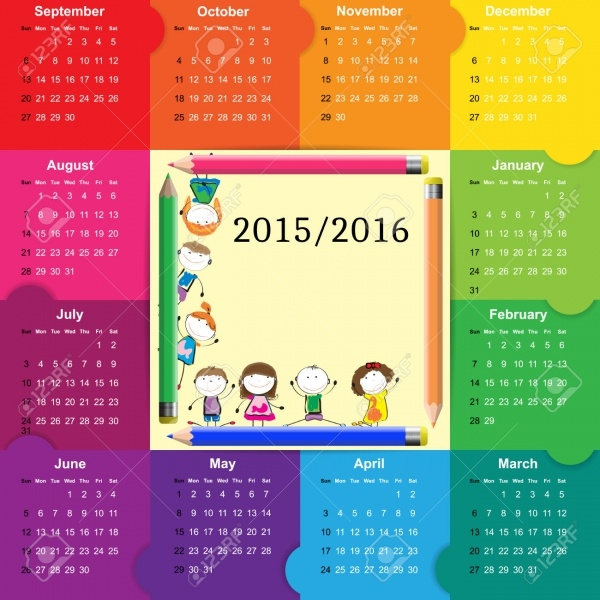 Kids Calendar Design : School calendar designs psd vector eps jpg