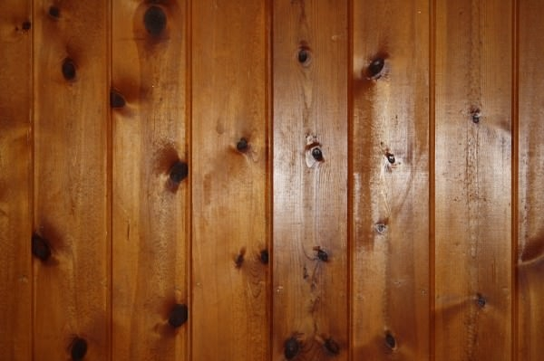 Knotty Pine Wood Wall Paneling Texture