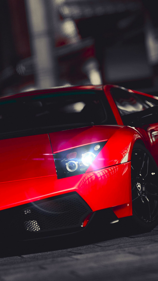 Lamborghini Veneno Red iPhone 6 Background