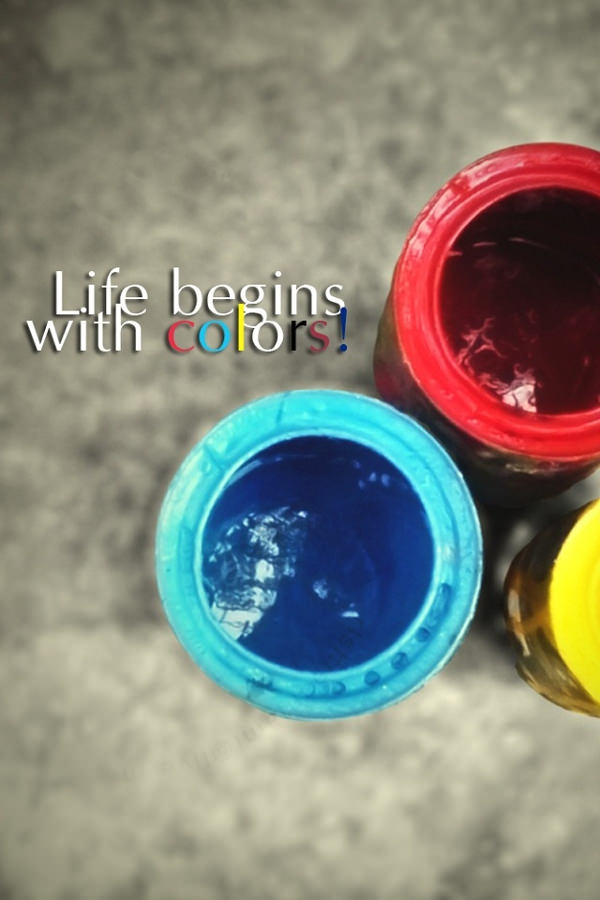 Life Begins With Colors Iphone 4 Background