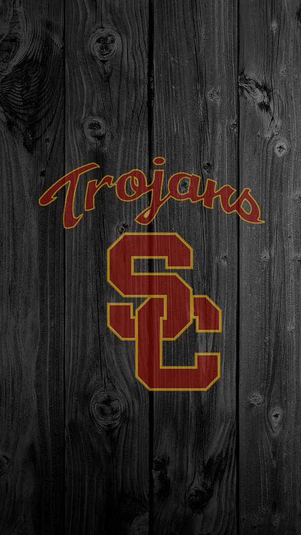 Logo on Wooden Background For iPhone