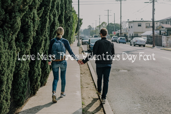 Love Ness Three Valentines Day Font