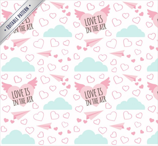 Love is in the Air Valentines Day Pattern