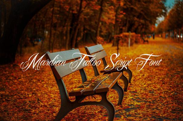 Mardian Tattoo Script Font