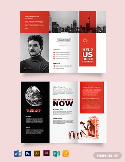 modern company profile tri fold brochure template