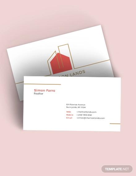 modern realtor business card