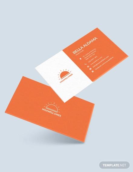 modern restaurant business card