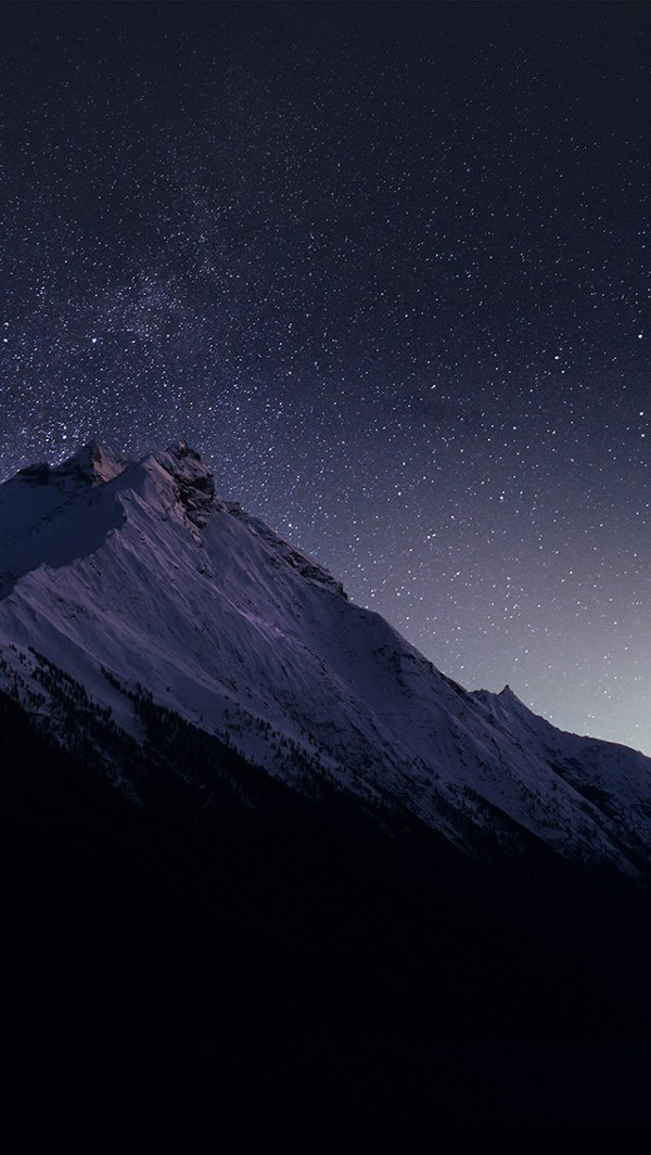 Mountain Night HD Background For iPhone 5s