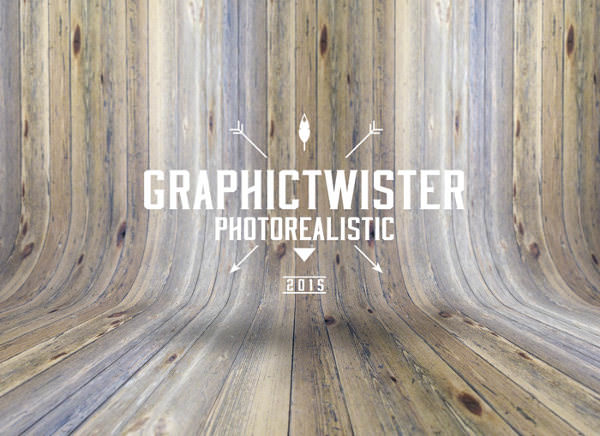 New Curved Wood Grungy Background Texture