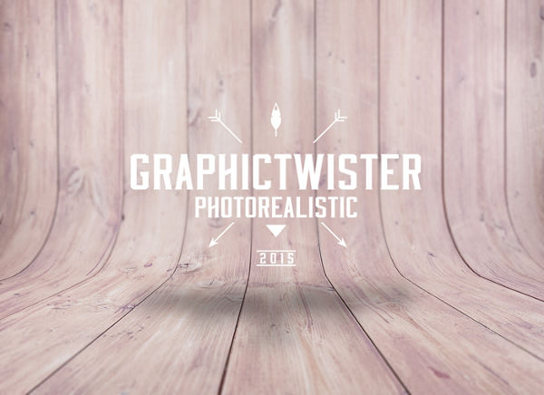 New Curved Wood Textured Background with Blur Effect