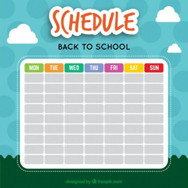 Nice School Calendar With a Landscape