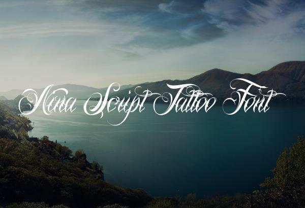Nina Script Tattoo Font