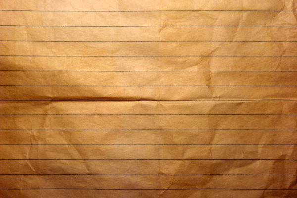 old notebook crumpled paper stock texture