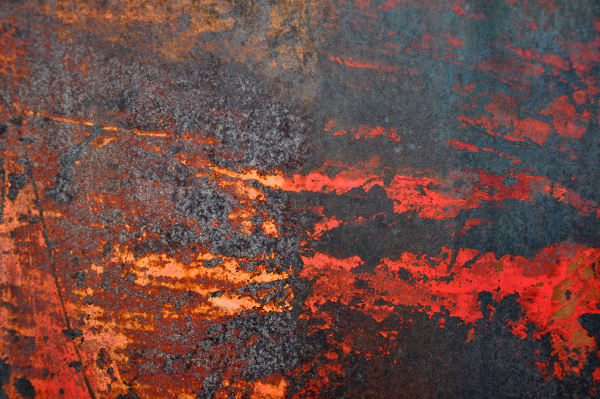 Orange Grunge Red Paint on Metal Texture