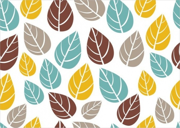 Ornate Seamless Leaf Pattern Vector