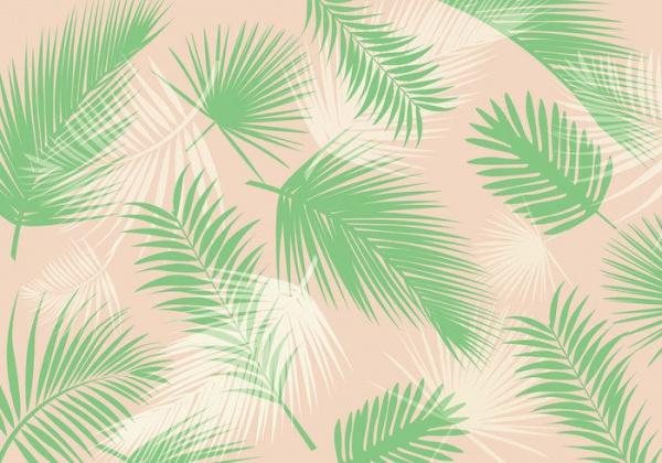 Palm Leaf pattern Vector Download