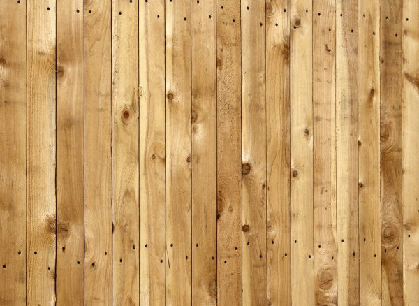 Pine Wooden Fence Background Texture