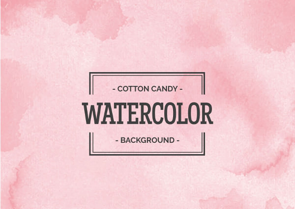 Cotton Candy Pink Watercolor Background