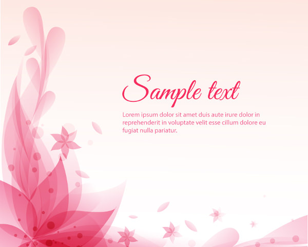 Pink Floral Background for Wedding Card Designs