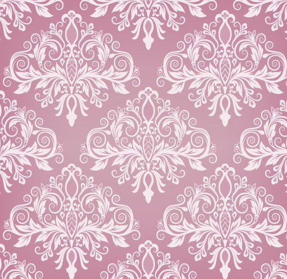 Pink Floral Vintage Pattern Background