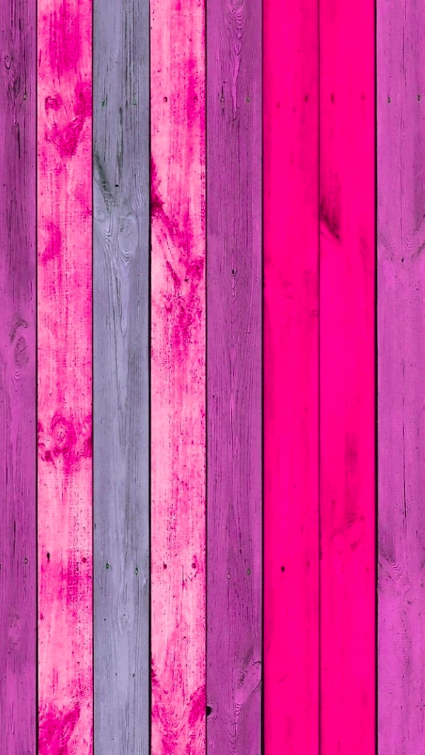 Pink Wood Planks Background For iPhone