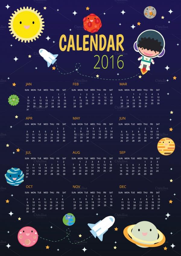 Pocket School Calendar Design