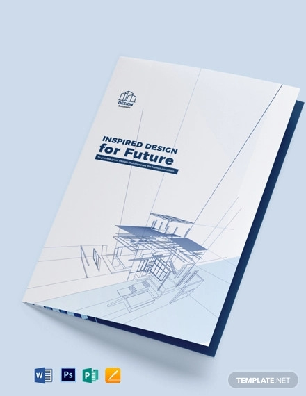 professional company profile bi fold brochure template