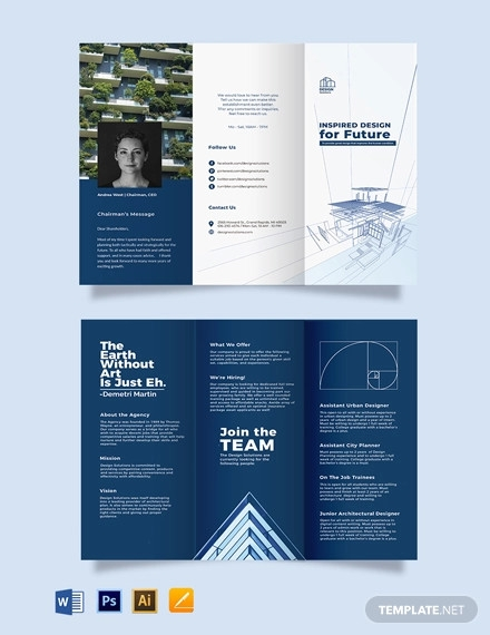 professional company profile tri fold brochure template