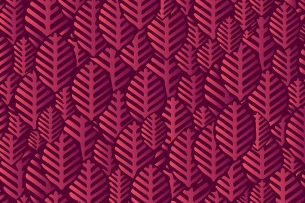 Purple Leaf Shape Pattern