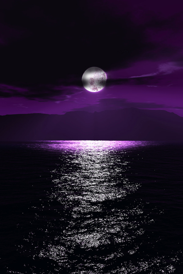 Purple Moonlight iPhone Background