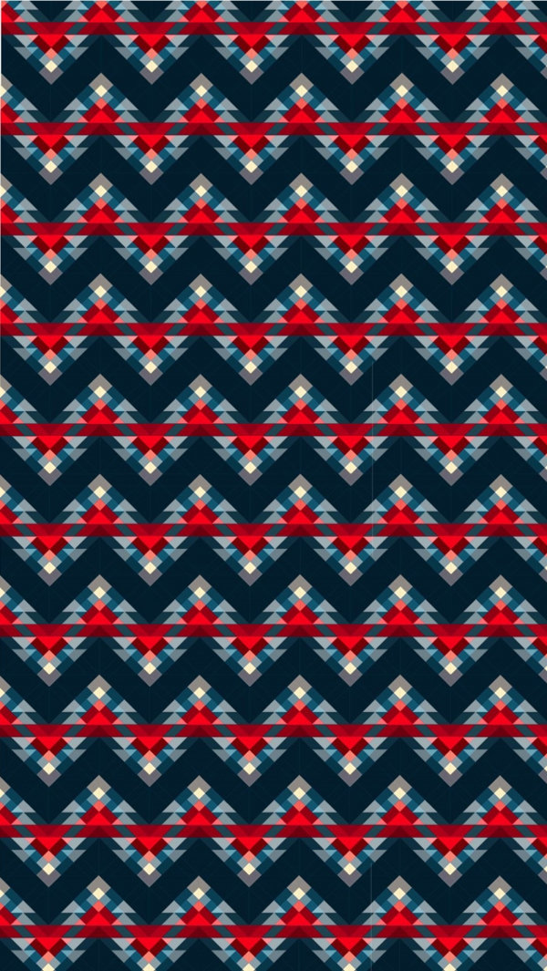 Red Blue ZigZag iPhone 5c Background