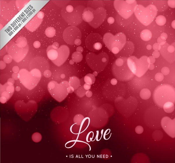 Red Bokeh Valentine Backgrounds
