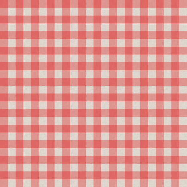 Red and White Kitchen Table Cloth Texture