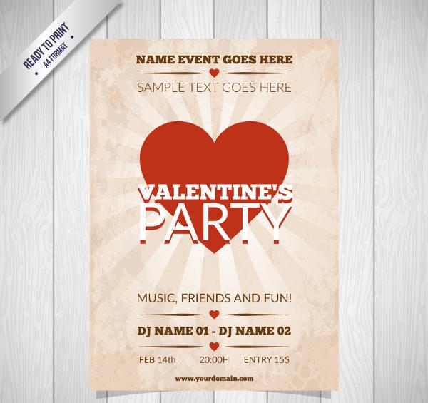 Retro Valentine's Day Poster