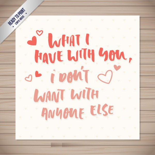 Romantic Phrase Valentines Day Card