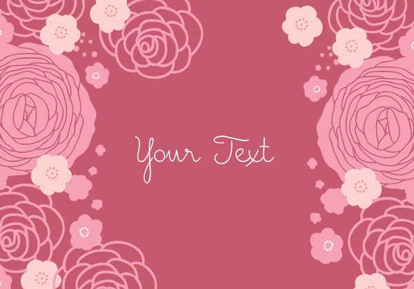 Rose Floral Background Design free Vector
